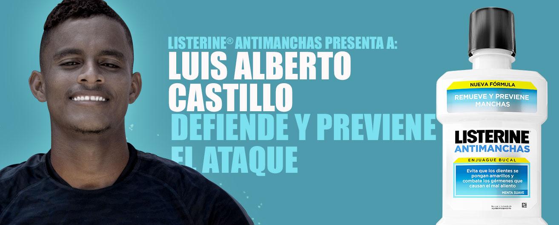 LISTERINE® Antimanchas presenta a: Luis Castillo. Defiende y previene el ataque