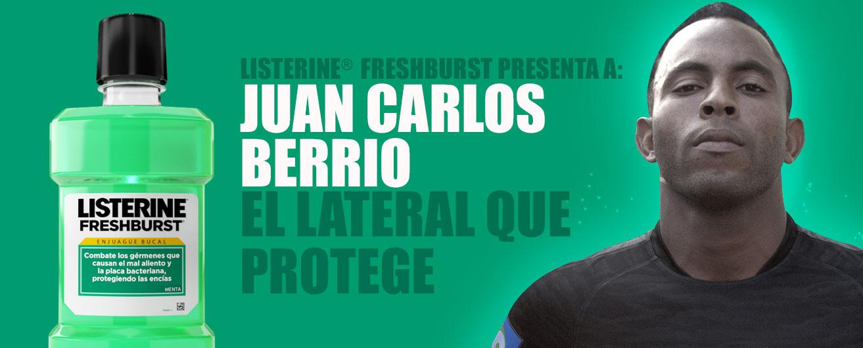 LISTERINE® FreshBurst presenta a: Juan Berrío. El lateral que protege