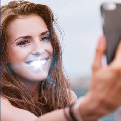 Uso filtros par sonrisa más blanca